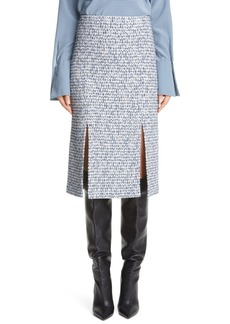 St. John Collection Bicolor Tweed Knit Skirt