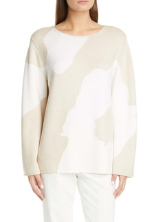 St. John Collection Bold Butterfly Intarsia Knit Sweater