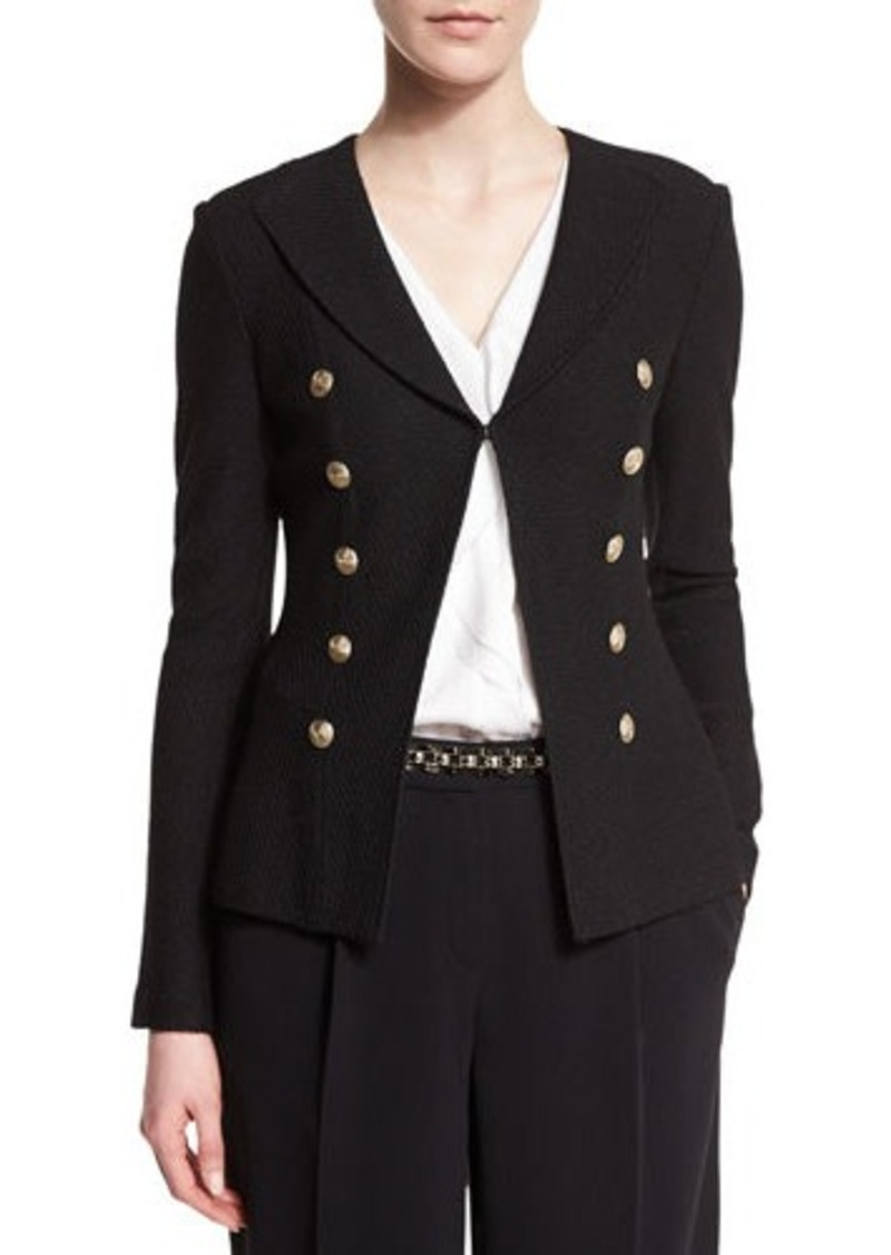 St. John Collection Boucle Faux Double-Breasted Jacket
