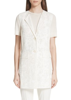 St. John Collection Burnout Netting Vest