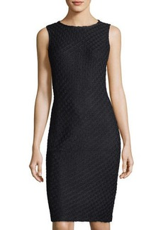 St. John Collection Cable-Knit Sleeveless Dress