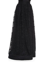 St. John Collection Camellia Crochet Lace Gown Skirt