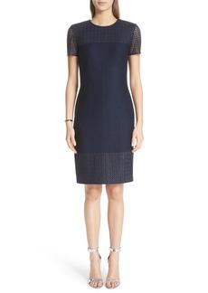 St. John Collection Caris Lace Trim Knit Dress