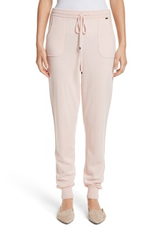 St. John Collection Cashmere Jersey Knit Crop Pants