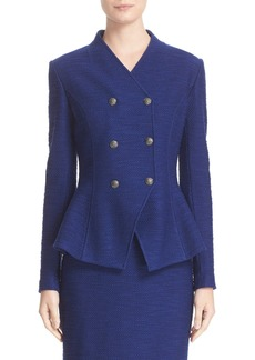 St. John Collection Catalina Double Breasted Knit Jacket
