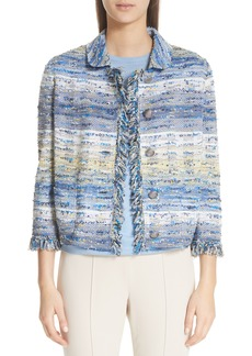 St. John Collection Chelsea Tweed Knit Jacket