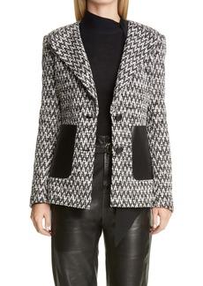 St. John Collection Chevron Bouclé Knit Jacket