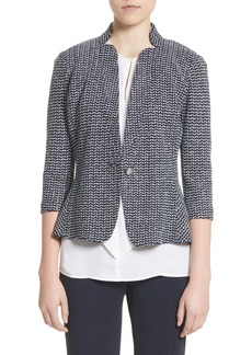 St. John Collection Chevron Knit Jacket