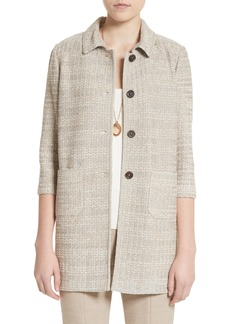 St. John Collection Chevron Knit Shantung Jacket