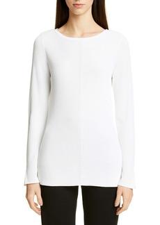 St. John Collection Chevron Rib Sweater
