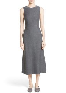 St. John Collection Clair Knit A-Line Midi Dress