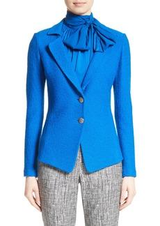 St. John Collection Clair Knit Peplum Jacket