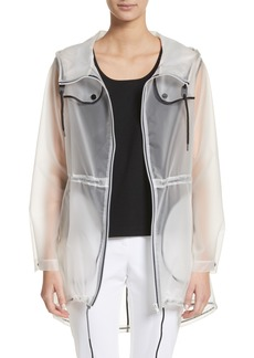 St. John Collection Clear Hooded Raincoat