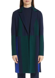 St. John Collection Colorblock Intarsia Wool Twill Jacket