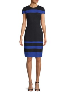 St. John Colorblock Knit Sheath Dress