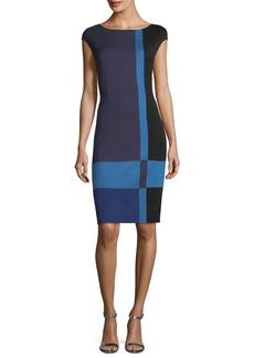 St. John Colorblock Milano Knit Dress