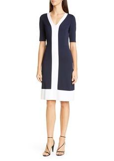 St. John Collection Colorblock Milano Knit Sheath Dress