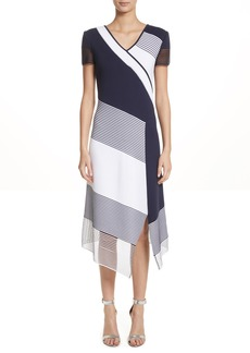 St. John Collection Colorblock Tech Knit Dress