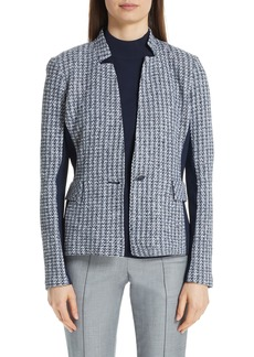 St. John Collection Contrast Geometric Knit Jacket