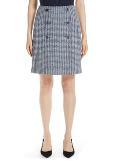 St. John Collection Contrast Geometric Knit Sailor Skirt