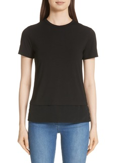 St. John Collection Contrast Hem Jersey Tee