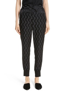 St. John Collection Contrast Stripe Charmeuse Pants