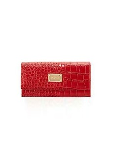 St. John Collection Crocodile-Embossed Leather Wallet