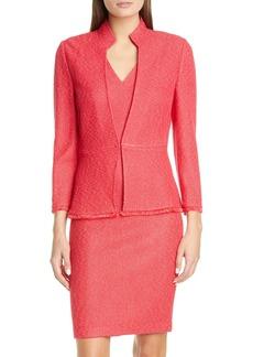 St. John Collection Cutaway Neck Refined Knit Jacket