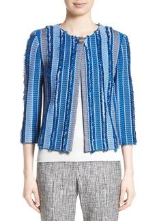 St. John Collection Damik Fil Coupé Knit Jacket