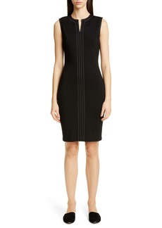 St. John Collection Defined Topstitching Milano Knit Dress