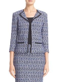 St. John Collection Delphinium Tweed Jacket