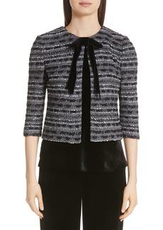 St. John Collection Dégradé Sequin Stripe Knit Jacket