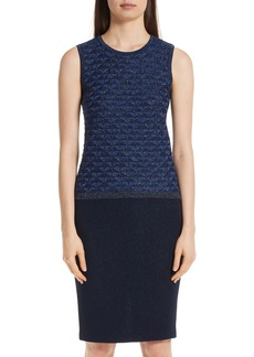 St. John Collection Diamond Lace Knit Shell