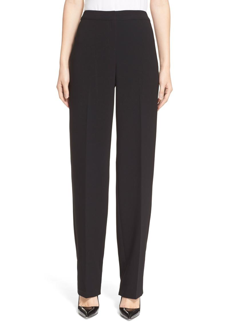 St. John Collection Diana Straight Leg Crepe Marocain Pants