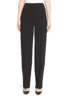 St. John Collection 'Diana' Straight Leg Crepe Marocain Pants