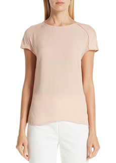 St. John Collection Dolman Sleeve Silk & Jersey Top