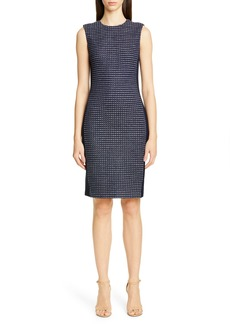 St. John Collection Dotted Inlay Tweed Knit Dress