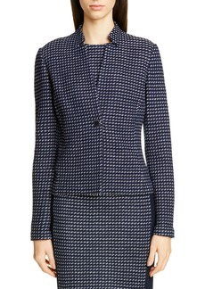 St. John Collection Dotted Inlay Tweed Knit Jacket