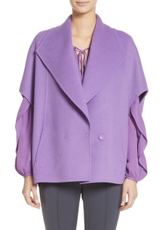 St. John Collection Double Face Wool & Angora Blend Jacket
