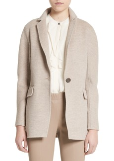St. John Collection Double Face Wool, Angora & Cashmere Blend Blazer