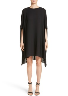 St. John Collection Double Silk Georgette Draped Dress