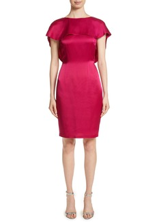 St. John Collection Draped Liquid Crepe Dress