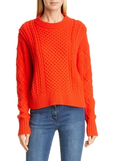St. John Collection Drop Shoulder Aran Sweater