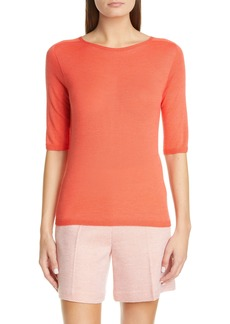 St. John Collection Elbow Sleeve Jersey Top
