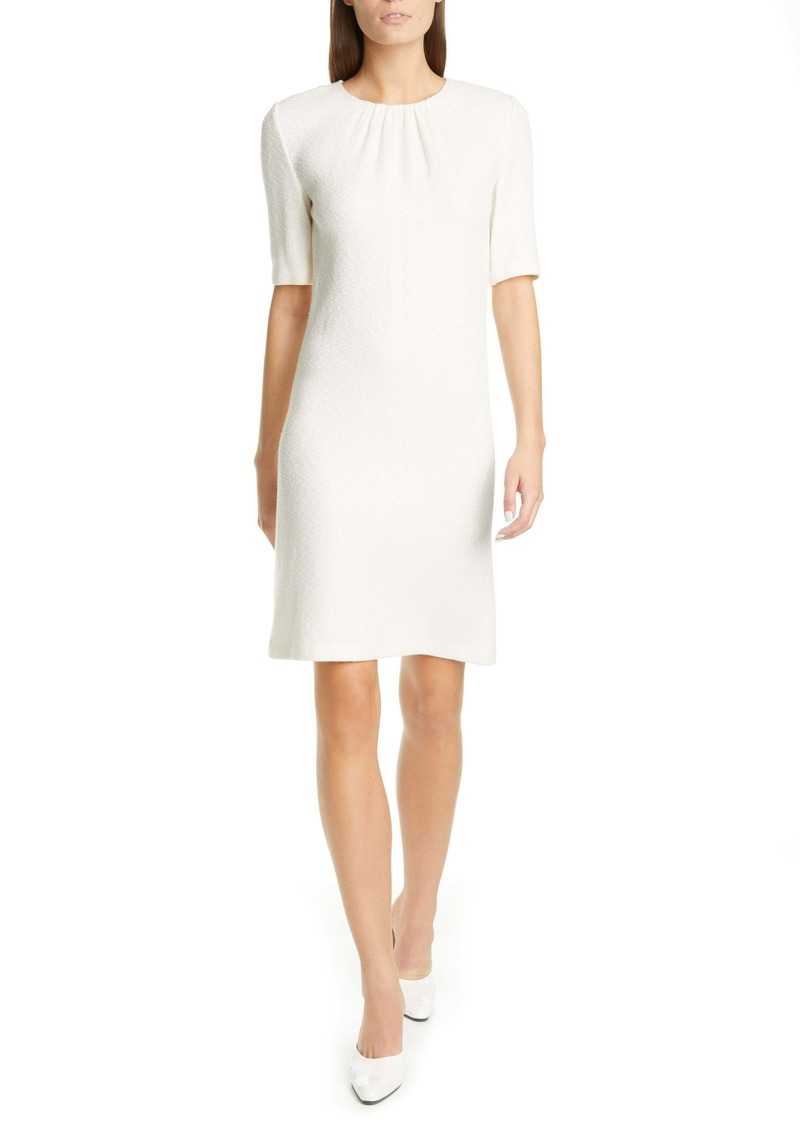 St. John Collection Elbow Sleeve Refined Knit Dress