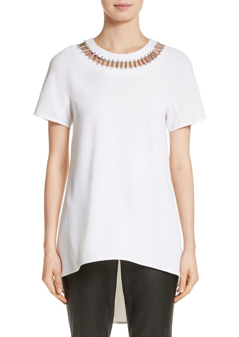 St. John Collection Embellished High/Low Top