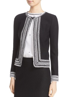 St. John Collection Embellished Knit Jacket