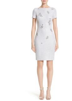 St. John Collection Embellished Shimmer Knit Dress