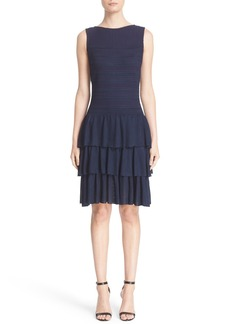 St. John Collection Embossed Island Knit Dress