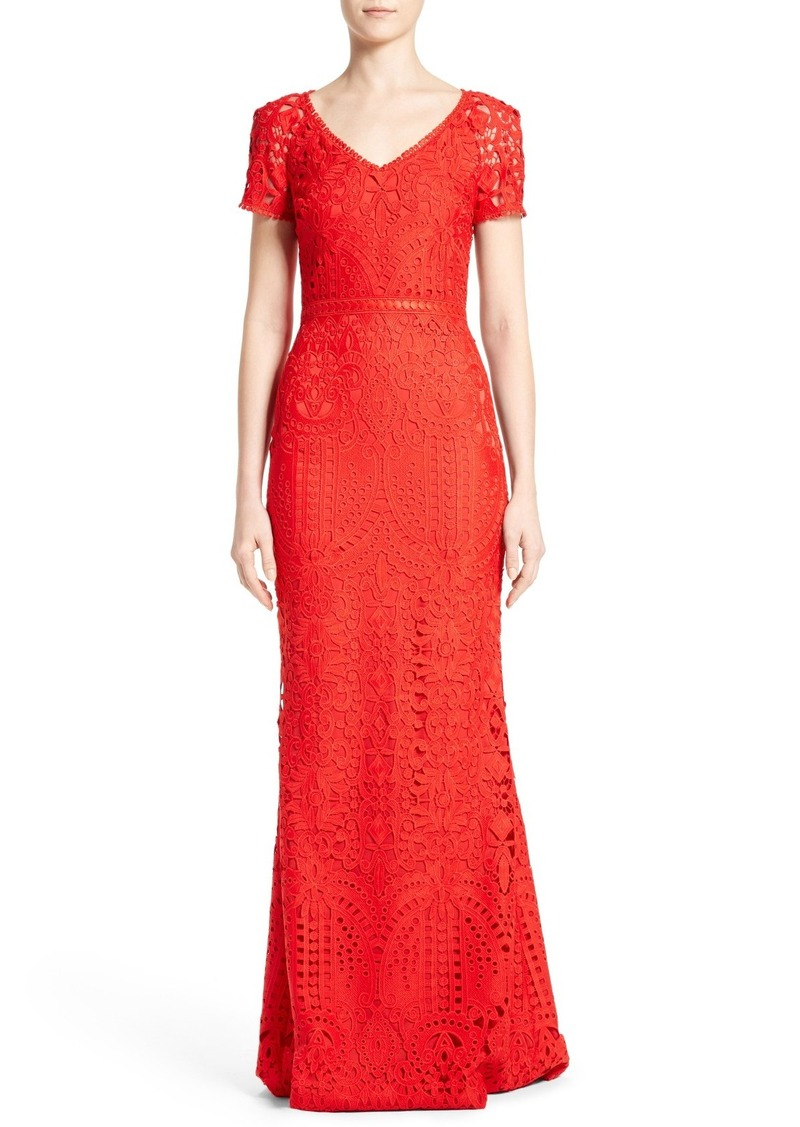 St. John St. John Collection Embroidered Lace Gown   Dresses
